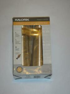 New KALORIK Easygrind Electric Gravity Salt and Pepper Grinder Set in Stainless