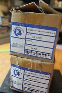 75 Pieces Global Mfg Malleable Iron Clamp Back MICLB075 clamp backs 34