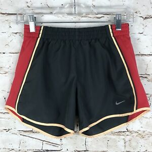 Nike Dri-Fit Womens BrownOrange Size XS Tie Waist Lined Athletic Running Shorts