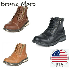 Bruno Marc Kids Boys Motorcycle Leather Chukka Boots Oxford Dress Ankle Boots $13.29