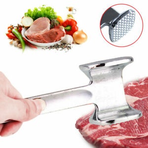Aluminium Alloy Metal Meat Mallet Tenderizer Steak Beef Chicken Hammer Tool OK