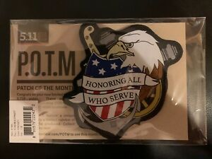 5.11 Tactical Patch of the month POTM #511047 NOV2017 (Veteran's Day)