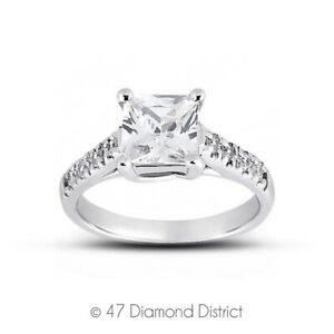 4.61ct tw D-VS1 Radiant Cut Natural Certified Diamonds 950 PLT. Side-Stone Ring