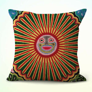 Mexican Huichol yarn painting cushion cover pillowcase sizes