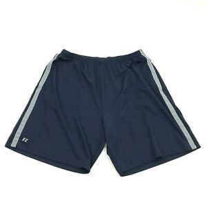 Russell Dri POWER Mens Shorts Size Extra Large XL Navy Blue Active Gym Fitness $12.44