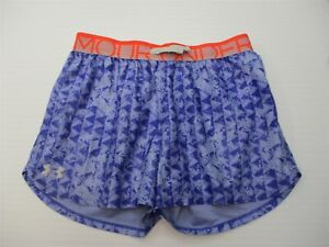UNDER ARMOUR Shorts Girls Size YLG Active Workout HEATGEAR Blue Triangle