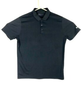 Nike Golf Dry-Fit Men's Casual L Large Short Sleeve Polo Shirt Black