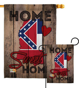 State Mississippi Home Sweet-Americana States Garden Yard Banner House Flag