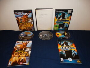 PS2 Game Bundle 007 Agent Under Fire Cabela#x27;s Big Game Hunter 2008 amp; Catwoman