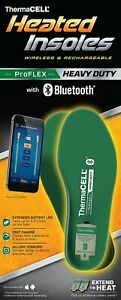 Thermacell PROFLEX Heavy Duty Heated Rechargeable Insoles Bluetooth M L XL XXL
