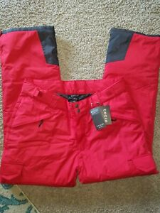WOMENS TESLA RED AND BLACK WINTER SKI PANTS SIZE XL NEW