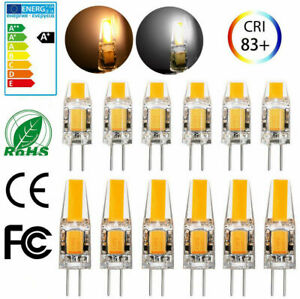 US 20/10x Dimmable G4 COB LED Light AC/DC 12V 3W 6W COB LED Lamp Bulb 10PC