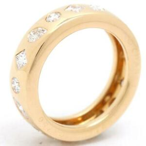 CHANEL Kaleidoscope Band Ring 18K Yellow Gold  Jp size #9 Used Vintage