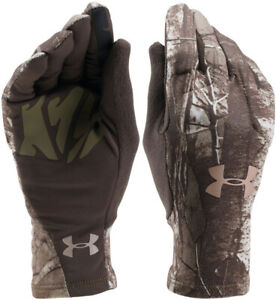 NWT Under Armour Women's ColdGear Scent Control Liner Gloves Camo Hunting