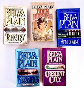 BELVA PLAIN Lot of 5 Books WOMENS LITERATURE
