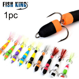Wobbler Bass Insect bait Popper Floats Fishing Lure Jig Swive Soft Lure