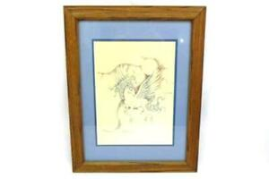 Deanna Christine Framed And Matted Pegasus Print 14.5quot; x 18.5quot; $19.40
