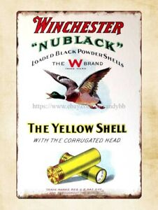 Winchester yellow shell ammo Nublack metal tin sign metal hanging decorations
