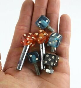 Lot of vintage dice tire valve caps for bmx bike motorcycle muscle bike stingray