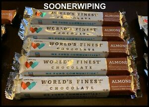 World's Finest Chocolate Bars (7pcs) Almond 1.3oz/37g FREE SHIPPING