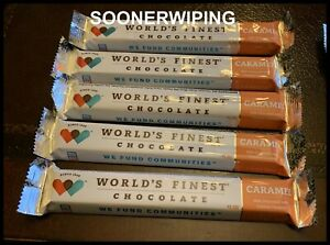World's Finest Chocolate Bars 5pcs CARAMEL CANDY 1.3oz/37g FREE SHIPPING
