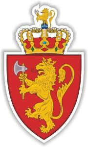 Norway Norwegian Coat of Arms Sticker Decal for Bumper Laptop Hard Hat Helmet PC