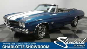 1970 Chevrolet Chevelle SS Convertible classic vintage collector ragtop droptop super sport chevy black fatham blue