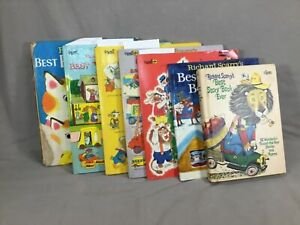 Lot 7 Vintage Richard Scarry Kids Books, Best Story Book Ever, 6 Hard Covers