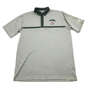 Russell ARIZONA Polo Dry Fit Shirt Mens Size Large Short Sleeve Relaxed Collared $7.51