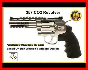 💥 357 Pellet and BB Revolver Chrome Co2 version of 56 DB Wessons Colt ⭐⭐⭐⭐⭐