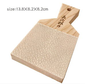 Japanese Shark Skin Grater Fresh Wasabi Ginger Sushi Sashimi Enhanced L JAPAN