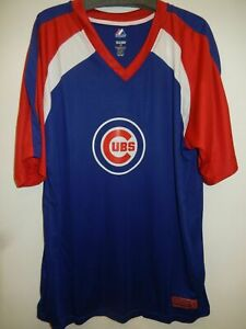 CHICAGO CUBS MENS V NECK DRI FIT SHIRT JERSEY NEW SIZE LARGE TALL OR 2X