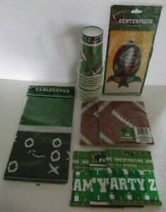 Football Themed Party Supplies Set Napkins Tablecloth Cups Centerpiece Tape