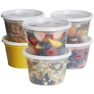 16 oz. Deli Food Storage Containers With Lids
