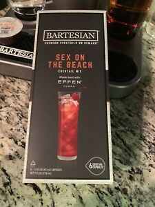 BARTESIAN - THE COCKTAIL 6 CAPSULES COCKTAIL PODS Sex On The Beach