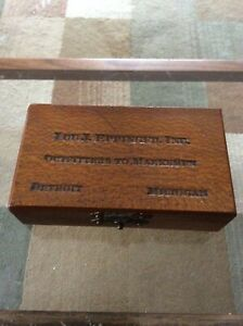 Vintage Rare Lou J. Eppinger Outfitters and Marksman Bullet Box