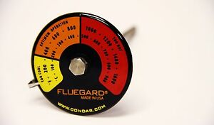 Stove pipe probe thermometer for double wall stovepipe on wood stoves (3-39)