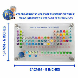 Up to 82 Pure Elements Periodic POR TABLE of Elements Samples SMALL 242x154 mm $58.00