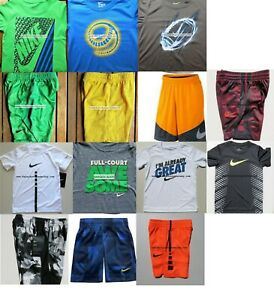 12pc NIKE BOYS SIZE 5 BASKETBALL SHORTS  ~ T-SHIRTS ~ DRI-FIT NEW ~ SUMMER $332