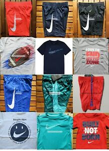 12pc NIKE BOYS SIZE 5 DRI-FIT SHORTS ~ T-SHIRTS ~ NEW ~  SUMMER FOOTBALL $284