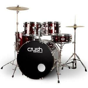 Crush Alpha Wine Red 5-piece Acoustic Drum Kit w Hardware AL528-903