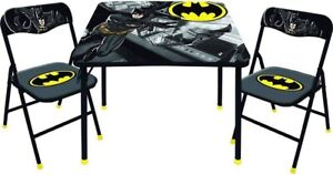 BatMan New Kids Table and 2 Chairs Set Toddler and Child Desk New