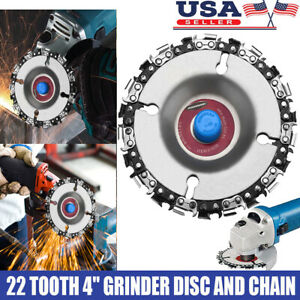 Grinder Disc Tooth Fine Chain Saw 4 Inch Angle Carving Culpting Wood Plastics US