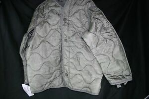 Nylon Cold Weather Military Field Jacket Liners Insulated Army USGI Gray