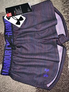 NWt UNDER ARMOUR Girls Play Up Loose Fit HEATGEAR Shorts Youth XS