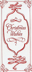 Red Foil Christmas Wishes Package of 8 Christmas Money Gift Card Holders $6.99
