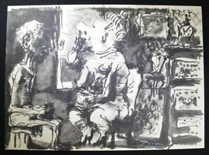 """Pablo Picasso Signed Lithograph from """"Toros y Toreros"""" (man with large nose). $1,299.00"""