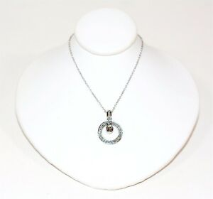 Charming .50tcw Chocolate & Diamond 14kt White Gold Pendant Platinum Necklace