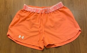 Under Armour Girl Neon Loose Fit Running Shorts Youth XS Heat Gear