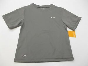 new CHAMPION Boy's Size XS Athletic DUO DRY Loose Fit Gray Sport T Shirt #TB1062 $6.00